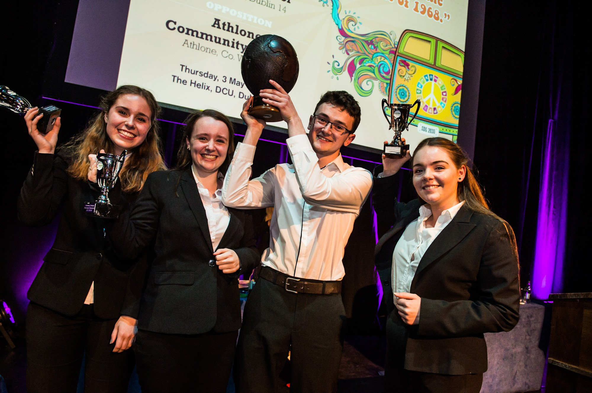 St Kilian's German School winners at the Concern Debate Finals Photo: Ruth Medjber / Concern Worldwide.