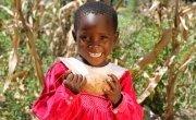 Winnie Banda holds sweet potatoes, Malawi. Photo: Jennifer Nolan / Concern Worldwide.