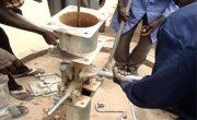 Rehabilitation of a hand pump in Seleia Town, Republic of Sudan. Photo: Concern Worldwide.