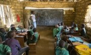 Students attending class in Masaka School which is funded by Irish Aid. Photo: Kieran McConville/Concern Worldwide.