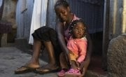 Mum-of-three Scholastica Mbinya (31) with her youngest child, Francisca. Photo: Peter Caton/ Concern Worldwide.