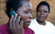 Callers dial the shortcode 59090 and are connected directly to health workers.  Photo: Concern Worldwide.