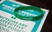 Concern Debates Leaflet and wristband. Photo: Ruth Medjber / Concern Worldwide.