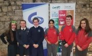 St Xaviers SNS (right) debates winners and St Kevin's Girls School (left) are the runners up in the Dublin Concern Primary Debates Final Photo: Claire Marshall/ Concern Worldwide.