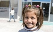 Leen, 6, poses for a photo during a break at an Education Support Centre in Malatya. Photo: Concern Worldwide.
