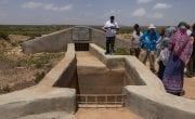 An underground water tank in Somaliland.