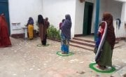 Health facilities have implemented new measures to separate people, Somalia. Photo: Concern