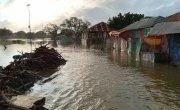 Aytiro Village under water after flooding in Somalia.