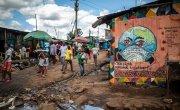 Coronavirus themed street art in Kibera slum, Nairobi, Kenya.