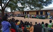 Miss Malawi visits primary school to give motivational speech in relation to GBV.