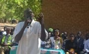 Bile Dagalasi, Group Village headman in Nsanje, speaks to girls about GBV.