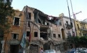 Destruction across Beirut, following the explosion in the port area.