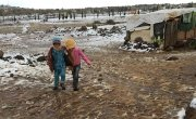 A photo taken at an informal refugee settlement in northern Lebanon after Storm Vladimir in January 2016. Photo: Concern Worldwide.