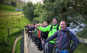 Happy hikers taking part in a Concern challenge. Photo: Concern Worldwide.
