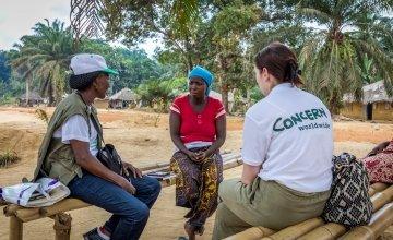 Irene Togbah talks to Concern staff.
