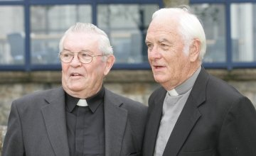 Aengus Finucane and his brother Fr Jack Finucane photograhed when they were awarded the Freedom of the Limerick City. Picture:Liam Burke/Press 22.