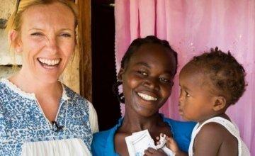 Actor Toni Collette visits Haiti