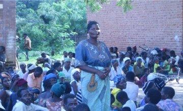 Eunice Makitchansi at Khulubvi camp for flood survivors in Nsanje district, Malawi