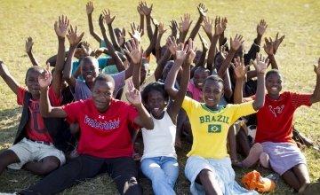 Teenagers taking part in Concern Worldwide's Skillz program in Nkhotakota, Malawi. Photo: Kieran McConville / Concern Worldwide.