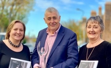 Concern Worldwide received the Branding, Communications and Marketing award at the annual Chartered Accountants Ireland Leinster Society Published Accounts Awards on November 7, 2019. Pictured with the award are (from left) Concern's Finance Director Ciara O'Neill, CEO Dominic MacSorley and Brand Manager Eithne Healy. Photo: Jason Kennedy/Concern Worldwide.