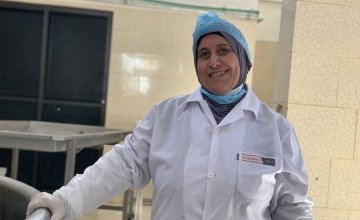 Mother of three Khadija (42) pictured at her local co-operative.