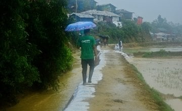 Monsoon rains in Cox's Bazar, Bangladesh. Photo: Concern Worldwide.