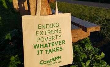 Concern tote bag. Photo: Concern Worldwide.