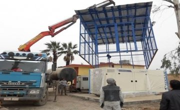 The installation of a generator to ensure communities have continuous access to water