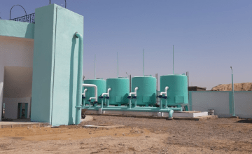 A rehabilitated water station in Syria, 2019
