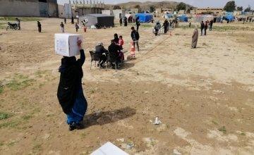 Concern distributing hygiene kits in Northern Syria