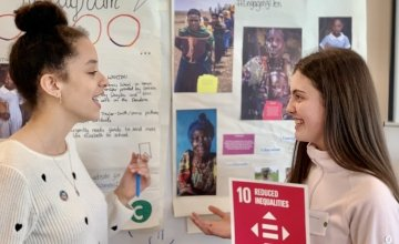 Students Sophie and Phoebe participate in Concern's Transition Year Academy.