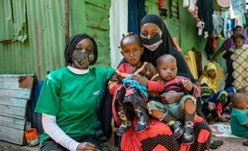 Nasra (23) and her two young children. Photo: Ed Ram / Concern Worldwide