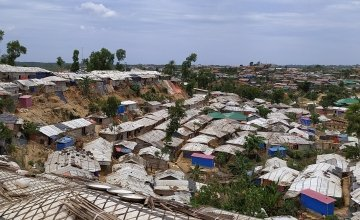 Densely populated refugee settlements in the Rohingya camp in Cox's Bazar. Photo: Md. Al-Nasim / Concern Worldwide