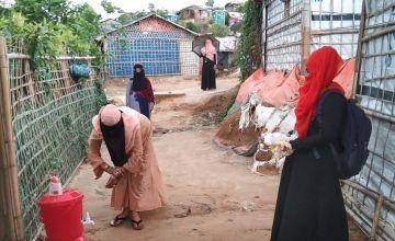 Handwashing and safety materials distribution.