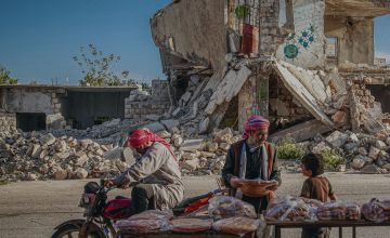Cover image from the 2021 Global Hunger Index. Photo: Anadolu Agency via AFP/Muhammed Said