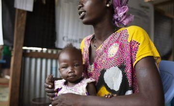 Adukulai with her baby daughter Elizabeth. Photo: Concern Worldwide
