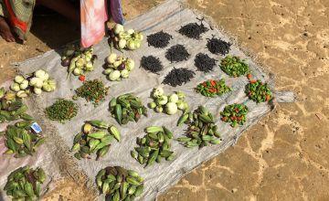 Food from small local farmers in Buchanan, Liberia.