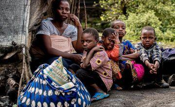 In Sake village, Léa Busanga and her five children.