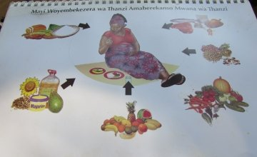An image from one of the Concern maternal health booklets. Photo taken by Concern Worldwide.