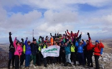 Concern fundraising hikers on Mount Errigal.