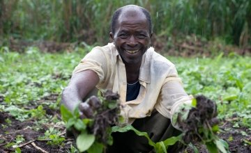 Balume Lubira benefited from Concern's livelihoods programme, Masisi, DRC.