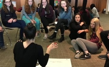 Conversation is flowing at the 2017 NYCI/Concern Youth Summit. Photo: Aoife O'Grady/Concern Worldwide.