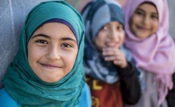 Syrian children living in an informal settlement near the city of Halba in Northern Lebanon. Photo taken by Kieran McConville / Concern Worldwide.