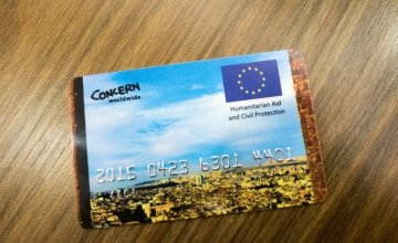 An example of an e-voucher card that is used by Syrian Refugees in Turkey. Photo: Kevin Carroll / Concern Worldwide.