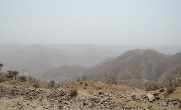The dry, mountainous terrain of Tselmti district makes accessing essential services a challenge. Credit: David Hunn/Concern Worldwide.