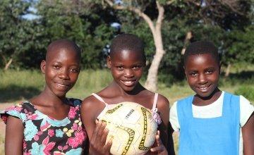 Beauty Mbewe, age 13, Diolinda Fernando, 13 and Esther Banda, 13 are part of Concern Worldwide's Skillz Girls programme. Photo: Jennifer Nolan / Concern Worldwide