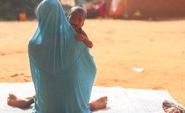 Single mum Rashida Sami and her son Ibrahim in Tahoua Hospital.