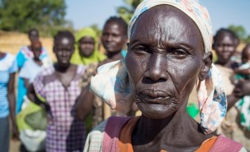 Widowed mother of five, Ahok Agouk Baak is part of Concern's livelihoods programming in Aweil West, Northern Bahr el North, South Sudan. Photo: Kieran McConville/Concern Worldwide.