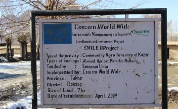 The people of Kozur have worked with Concern to develop a community forest