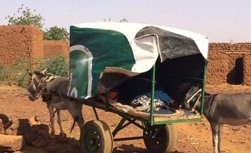 A donkey-drawn cart used to transport rural dwellers to nearby health centres.